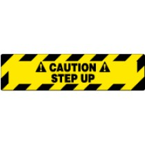 Caution Step Up Walk On Floor Sign (#WFS623)
