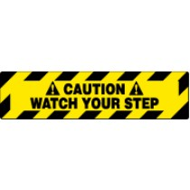 Caution Watch Your Step Walk On Floor Sign (#WFS625)