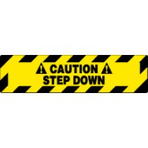 Caution Step Down Walk On Floor Sign (#WFS627)