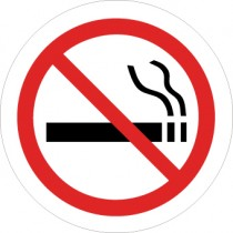 No Smoking Graphic Walk On Floor Sign (#WFS7)