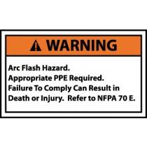 Arc Flash Warning Label (#WGA17AP)