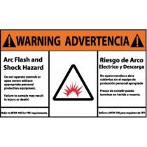 Arc Flash Warning Label (#WGA34AP)