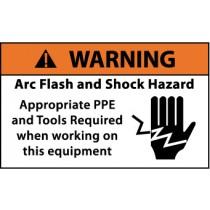 Arc Flash Warning Label (#WGA35AP)