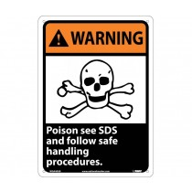 Warning Poison see SDS and follow safe handling procedures. Sign (#WGA40)