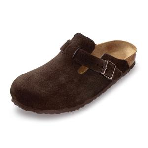 Birkenstock Shoes - Boston - Brown Suede, Narrow