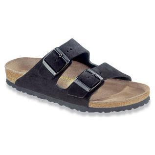 Birkenstock - Arizona - Black Suede- Soft FootBed