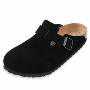 Birkenstock Shoes - Boston - Black Suede