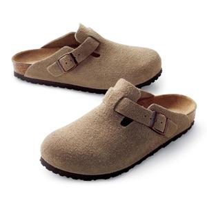 Birkenstock Shoes - Boston Soft - Taupe Suede