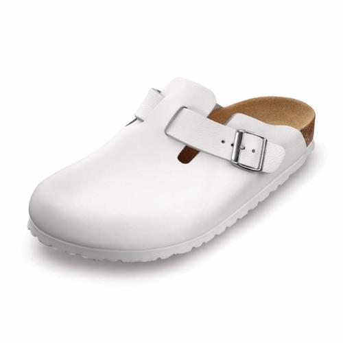 Birkenstock Shoes - Boston - White Leather