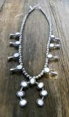 SBN14 Pawn Mother of Pearl Small Squash Blossom Necklace