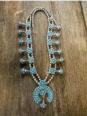 NE178 Estate Squash Blossom Necklace