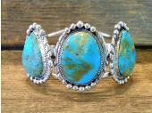 MLAB13 Monroe & Lillie Ashley Turquoise  Sterling Silver Bracelet