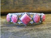 B11- Rhodochrosite Navajo Handmade Bracelet
