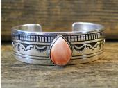 B10-  Orange Spiny Oyster Shell Bracelet Handmade By Charlie John