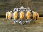 B6- Orange Spiny Oyster Shell Bracelet