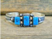 PB25 Pawn Turquoise Navajo Handmade Bracelet