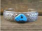 PB34 Pawn Navajo Handmade Sleeping Beauty Turquoise Bracelet