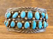 PB13 Pawn Wide Double Row Turquoise Bracelet
