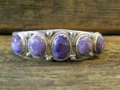 B7- Charoite Bracelet Navajo Handmade