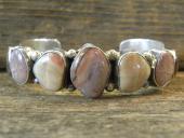 B5- Petrified Wood Stones Navajo Handmade Bracelet