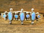 B4- Blue Opal Navajo Handmade Bracelet