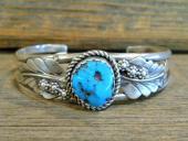 PB22 Pawn Sleeping Beauty Turquoise Bracelet