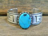 PB23 Pawn Navajo Handmade Sterling Silver Turquoise Bracelet
