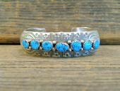 PB27 Pawn 7 Stone Sleeping Beauty Turquoise Bracelet