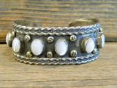 PB28 Pawn Mother of Pearl Navajo Handmade Bracelet