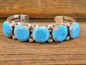 PB30 Pawn Turquoise Navajo Handmade Bracelet