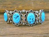 PB33 Pawn Navajo Handmade Sleeping Beauty Turquoise Bracelet
