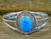 PB32 Pawn Turquoise Navajo Handmade Bracelet