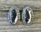 ERN2 Monroe & Lillie Ashley White Buffalo Earrings