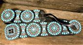 CB8 Estate Sleeping Beauty Turquoise Concho Belt