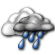 Mostly Cloudy with Light Showers Likely