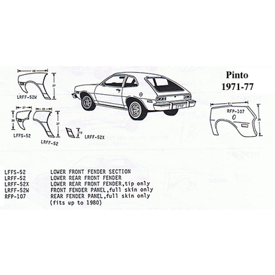 Classic Sheet Metal  Inc  Ford 195758