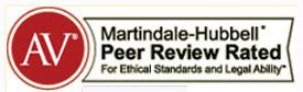 AV Martindale-Hubbell Peer Review Rated