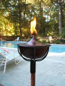Reno Garden Torch in Patina Finish