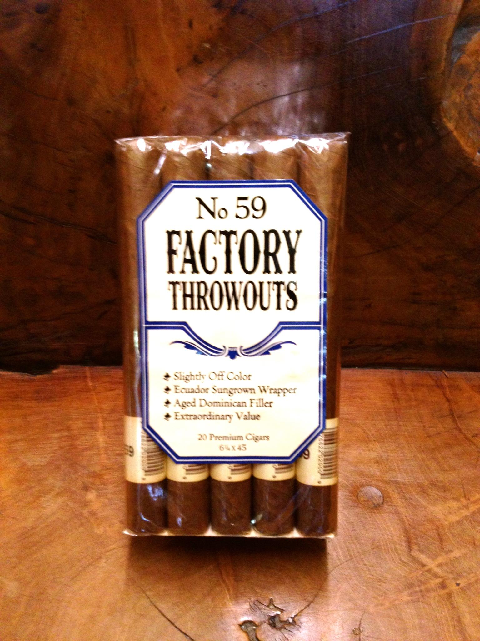 Factory Throwouts No 59
