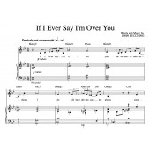 """""""If I Ever Say I'm Over You"""" [Wistful love ballad] in Bb – Bass or Alto"""