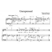 """""""Unexpressed"""" [Wistful ballad] in E – Tenor"""