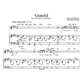 """""""Grateful"""" [An anthem of giving thanks] in E – Baritone or High Soprano"""