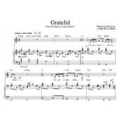 """""""Grateful"""" [An anthem of giving thanks] in C – Baritone or Soprano"""