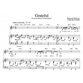 """""""Grateful"""" [An anthem of giving thanks] in Bb – Bass or Alto"""