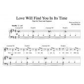 """""""Love Will Find You In It's Time"""" [Funny, hopeful medium-tempo] in D"""