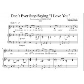 """""""Don't Ever Stop Saying 'I Love You'"""" [Love ballad] (Solo) in F"""