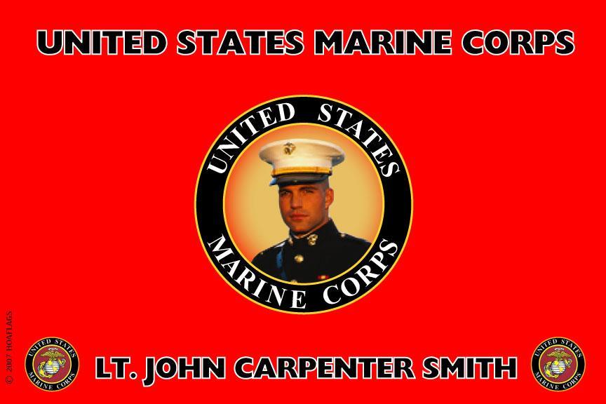 United States Marine Corps Personalized Photo Flag