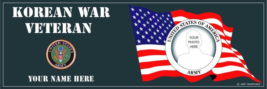 U.S Army Personalized Photo Bumper Sticker-Korean War