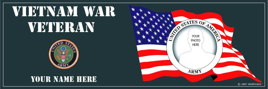 U.S Army Personalized Photo Bumper Sticker-Vietnam War