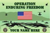 U.S. Army Enduring Freedom Personalized Flag